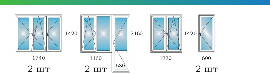 Окна в четырехкомнатной квартире с эркером дома П3М М