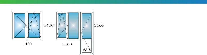 Окна в однокомнатной угловой квартире дома П3М с размерами М