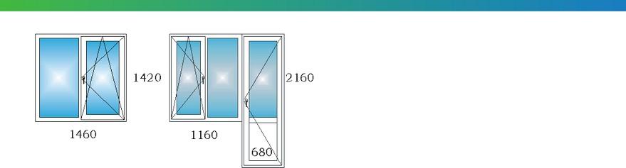 Окна в однокомнатной угловой квартире дома П3М с размерами С