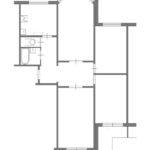 Планировка четырехкомнатной квартиры в доме серии П3М