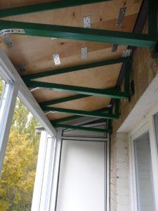 Конструкция крыши балкона